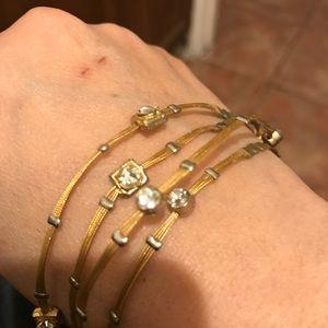 Bundle of 4 Swarovski crystals bracelets